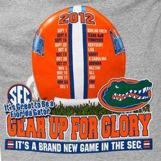 Florida Gators 2012 Football Schedule Gear Up T-Shirt