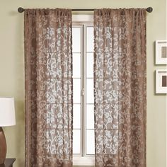 Softline Home Fashions Badi Scroll Rod Pocket Curtain Single Panel Cool Curtains, Rod Pocket Curtains, Panel Curtains, Style At Home, Victorian Fashion, Contemporary, Living Room, House Styles, Furniture