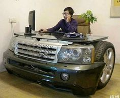 Funny pictures about Stylish desk. Oh, and cool pics about Stylish desk. Also, Stylish desk photos. Car Part Furniture, Automotive Furniture, Unique Furniture, Furniture Design, Furniture Movers, Furniture Ideas, Weird Furniture, Eclectic Furniture, Automotive Group