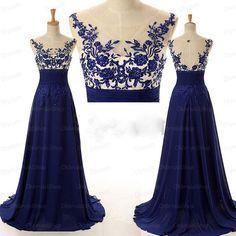 Royal blue prom dress, open back prom dresses, formal prom dress, off shoulder prom dresses, chiffon prom dresses, 2015 prom dresses, sexy prom dresses, dresses for prom, CM303