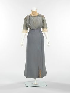 Walking suit, Dress without the Jacket Design House: (a–c) House of Paquin  Designer: (a–c) Mme. Jeanne Paquin  (d) Thurn Date: spring/summer 1910 Culture: French Medium: wool, metal, silk Accession Number: 2009.300.474a–d
