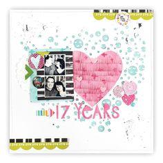 Crazy Life, Scrapbook Layouts, Scrapbooks, Layout Design, Friday, Profile, Magazine, Heart, Spring