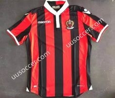 2017-18 OGC Nice Home Red Thailand Soccer Jersey AAA