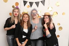 Make a DIY photo booth for New Year's Eve.