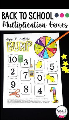 Back to school multiplication games for learning fun! Elementary Science, Elementary Schools, Multiplication Games, Catholic Kids, Education Quotes For Teachers, Math Facts, Teaching Math, Teaching Ideas, Learning Games