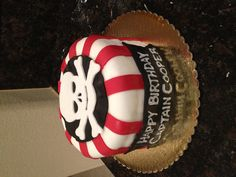 My first fondant cake! Coopers birthday cake! Pirate theme party! Arrrrrrr