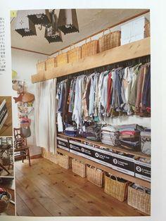 Curtains over closet
