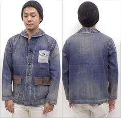 Vintage work jacket This is original inspiration of Japanese pointer jacket Workwear Fashion, Denim Fashion, Vintage Outfits, Vintage Fashion, Vintage Style, Elegantes Business Outfit, Blue Chinos, Rugged Look, Work Jackets