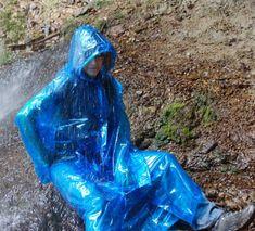 Blue Raincoat, Pvc Raincoat, Plastic Raincoat, Capes, Plastic Mac, Rain Wear, Girls In Love, Girls Wear, Beautiful Women