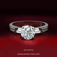 *o* Anillo de oro blanco 14kt con diamante natural central corte redondo .39 quilates  [ precio:$ 35,029 pesos ]