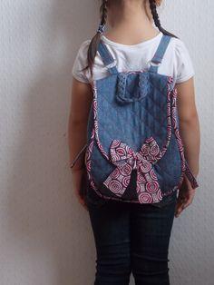 Капелька росы ...: Наш первый джинсовый рюкзак!