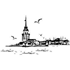 kız kulesi karakalem