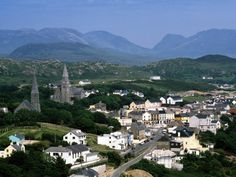 Aerial view, Clifden County, Ireland