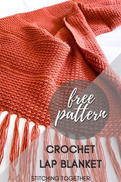 Gorgeous crochet lap blanket perfect for keeping you nice and warm. This quick blanket works great as a gift especially for those in a nursing home. Click to go directly to the free crochet pattern by Stitching Together.