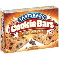 Tastykake Chocolate Chip Soft Cookie Bars, 2 oz, 6 count: Snacks, Cookies