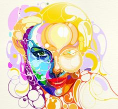Colorful Portraits Emerge From Abstract Lines - My Modern Metropolis