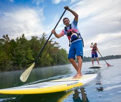 Paddleboarding on the Catawba River at the U.S. National Whitewater Center in Charlotte.