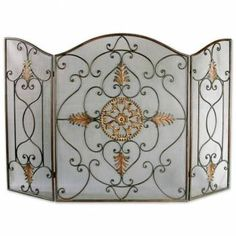 gorgeous fireplace screen