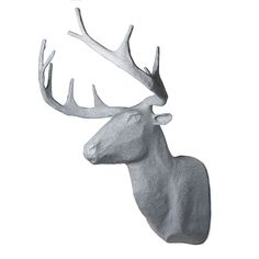 Paper Mache Deer. Adorn your walls with these unique paper mache animal heads. Handmade in Haiti.