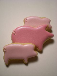 little piggy cookies Farm Cookies, Iced Cookies, Cut Out Cookies, Cute Cookies, Cupcake Cookies, Sugar Cookies, Cupcakes, Piggy Cake, Cookie Time