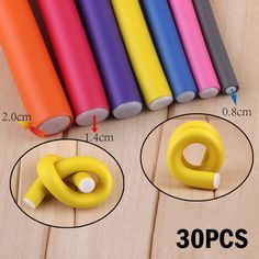 30 pcs/set Hair Curler Flexi rods Soft Foam Bendy Hair Roller Plastic Hair Curling Magic DIY Styling Sticks Tools For Hairstyle