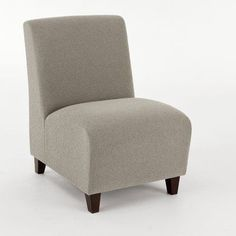 Lesro Siena Guest Chair Arm Options: Not Included, Casters: Not Included, Finish: Natural, Seat Color: Axis Paprika