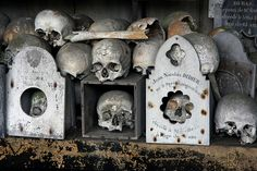 Saint Hilaire cemetery, Marville by Sensaos #ossuary #skulls #france