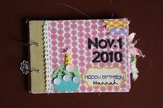 4x6  Mini Book娘の誕生日アルバム。|ハンドメイド、手作り、手仕事品の通販・販売・購入ならCreema。