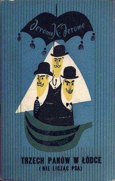 Janusz Stanny cover for Three Men in a Boat