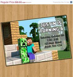 Minecraft Invitation Templates  Birthday Buzzin And Lots Of