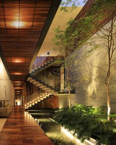 When you find zen! Casa HNN is designed by Hernández Silva Arquitectos and is located in // Photo by Carlos Díaz Corona - Architecture and Home Decor - Bedroom - Bathroom - Kitchen And Living Room Interior Design Decorating Ideas - Interior Garden, Home Interior Design, Exterior Design, Dream Home Design, Modern House Design, Modern Tropical House, Modern Houses, Futuristic Architecture, Architecture Design