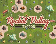 Rocket Valley Tycoon 2D Art, UI/UX Design by Kastoart(George Karachristos)