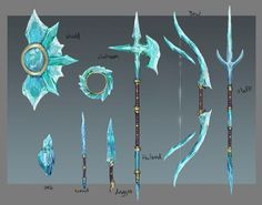 The whispers attracted izuka to the school. A school made for monster… Ninja Weapons, Anime Weapons, Fantasy Character Design, Character Art, Fantasy Jewelry, Fantasy Art, Ice Sword, Inspiration Drawing, Armas Ninja