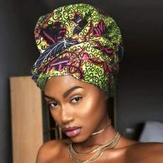 African Print Head Wrap With Satin-Lined(Enchanted Lady) – Anewow Headband Wrap, Wigs Online, Headgear, Wrap Style, Head Wraps, African Fashion, Lost, Satin, Enchanted