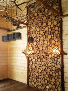 Modern Wall Design Ideas, Dramatic, Warm, Beautiful Wooden Walls : Wooden walls are one of modern interior design trends offering numerous innovative and traditional ideas Rustic Wood Walls, Decor, Modern Interior Design, Accent Wall Designs, Wood Slices, Wood Panel Walls, Wooden Wall Design, Wood Wall Design, Wall Design