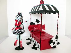 How to make a Frankie Sweet Screams Doll Bed Tutorial/ Monster High