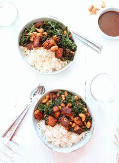 Tofu with Nam Prik Pao