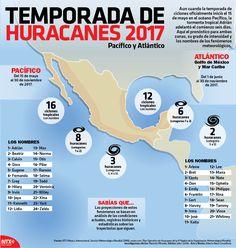 En la #InfografíaNotimex te presentamos los detalles de la temporada de huracanes 2017, que inicio el 15 de mayo.