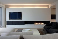 Lareiras Metalfire - Urban Gás (Sem Vidro): Salas de estar minimalistas por Biojaq - Comércio e Distribuição de Recuperadores de Calor Lda