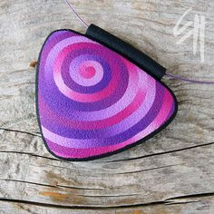 Violet Pendant - polymer clay jewellery - pendant