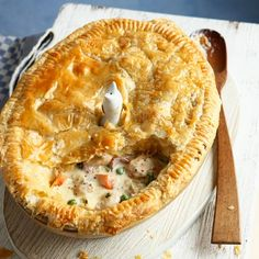 This hearty chicken pie is perfect comfort food.