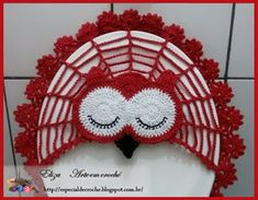 Arte em crochê... Por Eliza: Tampa de coruja