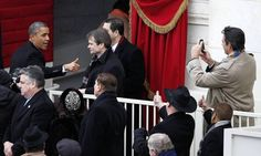 Photos: President Barack Obama leaves the stage after his inauguration at the U.S Capitol.