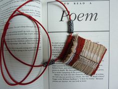 Heike Gerbig - Poem pouch a textile pendant necklace by HGhandmade