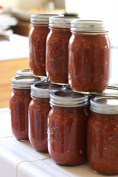 The link for Canning Salsa Safely in this post is helpful. Also, the roasted tomato soup she made with leftover tomatoes looks delicious!