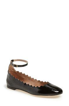 c3994c601c09c Black Ballet Shoes, Flat Shoes, Ankle Strap Flats, Ankle Straps, Black  Patent