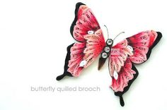 SUSAN QUILLING: Butterfly Quilled Brooch