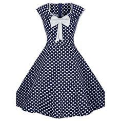 Blue Polka Dot Vintage Dress