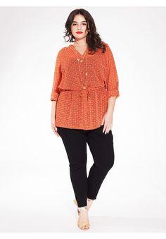 Nadia Shirt Tunic in Tangerine Day Dream