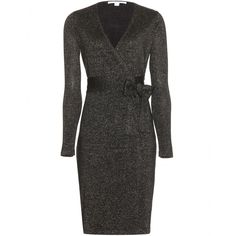 Would love to see this on Kate, it's the DVF Metallic stretch-wool wrap dress